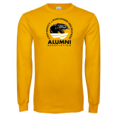Gold Long Sleeve T Shirt-Alumni Association
