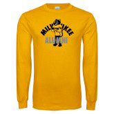 Gold Long Sleeve T Shirt-Milwaukee Alumni Full Body
