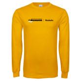 Gold Long Sleeve T Shirt-UWN Waukesha