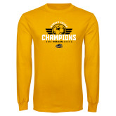 Gold Long Sleeve T Shirt-2019 Womens Soccer Champs