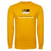 Gold Long Sleeve T Shirt-Lubar School