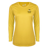 Ladies Syntrel Performance Gold Longsleeve Shirt-Lubar School of Business Executive MBA