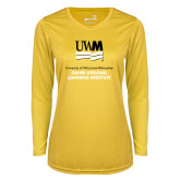 Ladies Syntrel Performance Gold Longsleeve Shirt-OSHER
