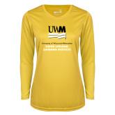 Ladies Syntrel Performance Gold Longsleeve Shirt-OSHER