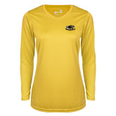 Ladies Syntrel Performance Gold Longsleeve Shirt-Official Logo