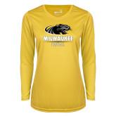 Ladies Syntrel Performance Gold Longsleeve Shirt-Baseball