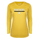 Ladies Syntrel Performance Gold Longsleeve Shirt-Volleyball Bar Design