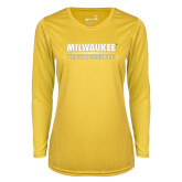 Ladies Syntrel Performance Gold Longsleeve Shirt-Strength and Conditioning