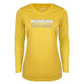 Ladies Syntrel Performance Gold Longsleeve Shirt-Womens Basketball