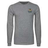 Grey Long Sleeve T Shirt-Lubar School of Business Executive MBA