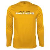Syntrel Performance Gold Longsleeve Shirt-Milwaukee Stacked