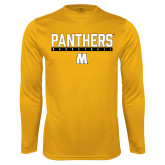 Performance Gold Longsleeve Shirt-Basketball Bar Design