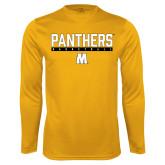 Syntrel Performance Gold Longsleeve Shirt-Basketball Bar Design