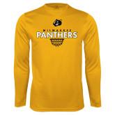 Syntrel Performance Gold Longsleeve Shirt-Basketball Sharp Net