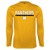 Performance Gold Longsleeve Shirt-Baseball Bar Design