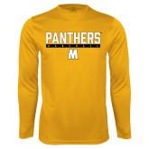 Syntrel Performance Gold Longsleeve Shirt-Baseball Bar Design