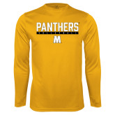 Performance Gold Longsleeve Shirt-Volleyball Bar Design