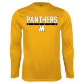 Syntrel Performance Gold Longsleeve Shirt-Soccer Bar Design