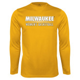 Performance Gold Longsleeve Shirt-Womens Basketball
