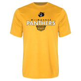 Performance Gold Tee-Basketball Sharp Net