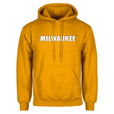 Gold Fleece Hoodie-Milwaukee Wordmark
