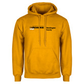 Gold Fleece Hoodie-UWN Washington County Horizontal