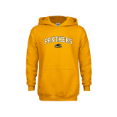Youth Gold Fleece Hoodie-Arched Panthers