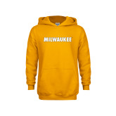 Youth Gold Fleece Hoodie-Milwaukee Wordmark