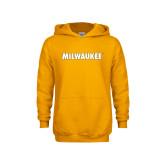 Youth Gold Fleece Hoodie-Milwaukee Wordmark