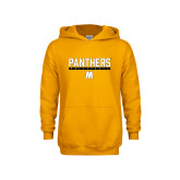 Youth Gold Fleece Hoodie-Volleyball Bar Design