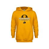 Youth Gold Fleece Hoodie-Soccer Ball Design