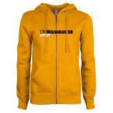 ENZA Ladies Gold Fleece Full Zip Hoodie-UW Milwaukee
