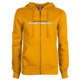 ENZA Ladies Gold Fleece Full Zip Hoodie-Milwaukee Stacked