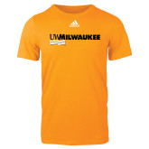 Adidas Gold Logo T Shirt-UW Milwaukee