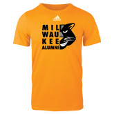Adidas Gold Logo T Shirt-Milwaukee Alumni Right Side Face