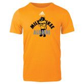 Adidas Gold Logo T Shirt-Milwaukee Alumni Full Body