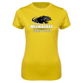 Ladies Syntrel Performance Gold Tee-Womens Soccer