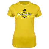 Ladies Syntrel Performance Gold Tee-Basketball Sharp Net