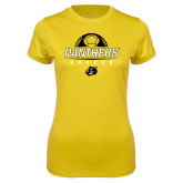 Ladies Syntrel Performance Gold Tee-Soccer Ball Design