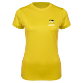 Ladies Syntrel Performance Gold Tee-OSHER
