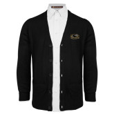 Black V Neck Cardigan w/Pockets-Official Logo