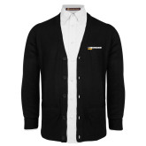 Black V Neck Cardigan w/Pockets-UW Milwaukee