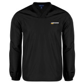 V Neck Black Raglan Windshirt-UW Milwaukee