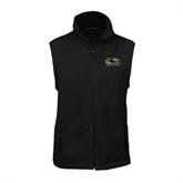 Fleece Full Zip Black Vest-