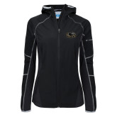 Columbia Ladies Sweet As Black Hooded Jacket-Official Logo