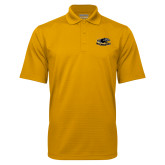 Gold Mini Stripe Polo-Official Logo