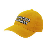 Gold OttoFlex Unstructured Low Profile Hat-Milwaukee Panthers Word Mark