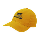 Gold Flexfit Mid Profile Hat-Milwaukee Alumni Top of Face