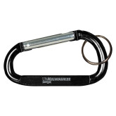 Black Carabiner with Split Ring-UW Milwaukee  Engraved