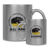 Full Color Silver Metallic Mug 11oz-Alumni Association